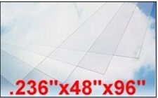 "LEXAN SHEET .236""x48""x96"" CLEAR 4 SHEETS POLYCARBONATE 11689-4"