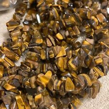 "15"" Strand Gemstone Tiger EYE Chips Beads Jewelry Making"