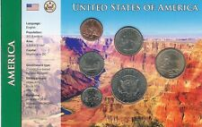 More details for usa united states coin set, unc condition six coins - various years free uk p&p