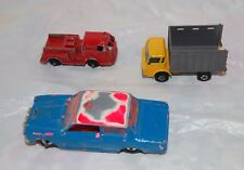 Vintage 3 TOY CARS Miniature  Die Cast Collector TOOTSIE TOYS-Dinky-Matchbox