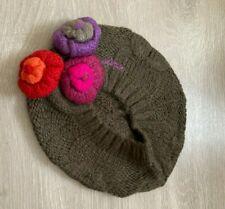 RRP £28 * Girls Kids Designer Beret Hat * Catimini * Age 6-8 * Brown