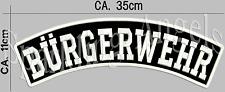 Bürgerwehr   Rückenpatch Aufnäher 35x11cm