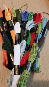 Embroidery thread by Trebla x 6 skeins 8 metre mercerised  6 strand 100% cotton