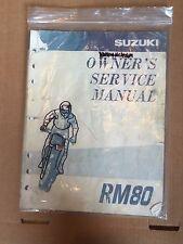 SUZUKI OWNER'S MANUAL RM80