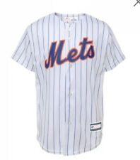 New NWT New York Mets Jersey Youth Boys Size L Large 14/16 White MLB Pinstripes