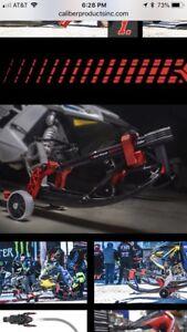 Caliber Driveable Forward And Backward Sled Wheels Black Color Pair 13585