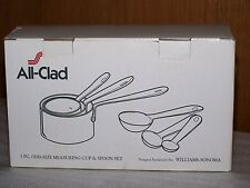 All Clad 6 pc set ODD SIZE MEASURING CUPS & SPOONS Stainless Steel NEW in Box