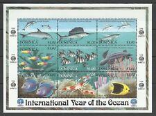 Dominique Dominica Poissons Dauphins Dolfins Delphinen Fishes Fische ** 1998 15€
