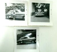 Vintage Car Photos Black and White Snapshots 1950s 1940s