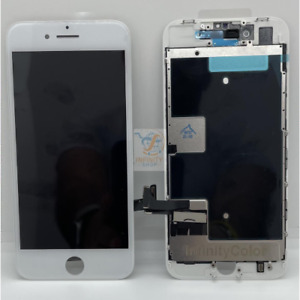 TOUCH LCD DISPLAY APPLE IPHONE 8 VETRO SCHERMO BIANCO INCELL COME ORIGINALE