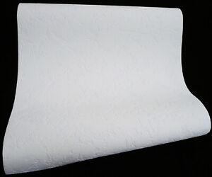 8129-1-) 9 Rollen hochwertige Vinyltapeten weiß Spachtelputz-Dekor