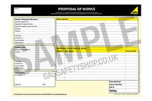 Gas Safe - Estimate / Proposal of Works