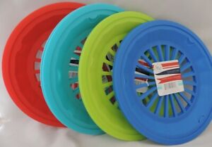 """Set of 12 Reusable Plastic Paper Plate Holders 10 1/4"""" Picnic, BBQ Camping Party"""