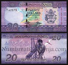 B-D-M Islas Salomon Solomon 20 Dollars 2017 Pick 34 New SC UNC