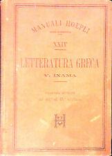 LETTERATURA GRECA DI V. INAMA