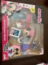 New listing Fisher-Price Disney Minnie Mouse Snap N' Pose World Traveler Toy Figure Doll Set