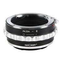 K&F Concept Lens Adapter Ring for Pentax K PK Lens to Sony NEX E-Mount Cameras