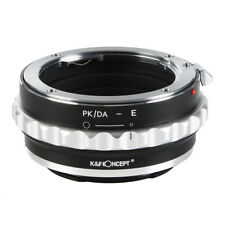 K&F Concept Adapter for Pentax K PK M A FA DA Lens to Sony NEX E-Mount Camera