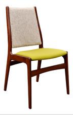 Mid-Century Modern Danish Solid Teak Desk Chair by Erik Buck, Wool Fabric