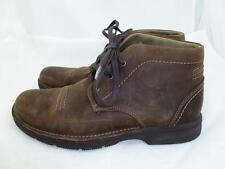 CLARKS SENNER DRIVE USED 9 BROWN SUEDE LEATHER SHOES/ANKLE BOOTS/CHUKKA 67547