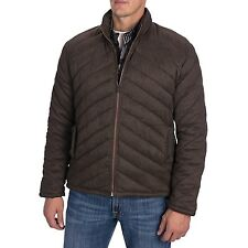NWT Men's Comstock & Co. Quilted Bubble Microfiber Coat Jacket Dark Olive L