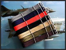 19mm Bond stripe NATO g10 Premium nylon watchstrap MoD RAF IW SUISSE 18 20 22 24