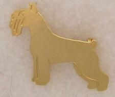 Schnauzer Jewelry Standard Schnauzer Gold Pin by Touchstone