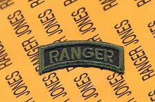 US Army RANGER OD Green & Black Airborne Para C/E tab arc patch