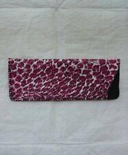 Red CHEETAH Animal Print Eyeglass Case Reading Glasses Sunglasses NEW Soft Pouch