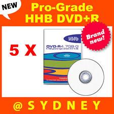 5 x NEW HHB DVD-R 4.7GB-G Pro-Grade Recordable DVD Blank Discs