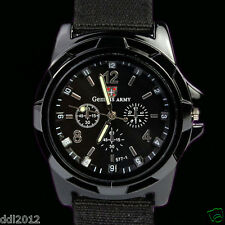 Mens Military Sport Watches Fabric Band Mechanical Analog Quartz Wrist Watches