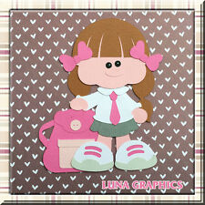 CUTIE PATOOTIE SCHOOL GIRL Embellishments Paper Piecing scrapbooking