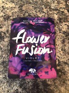 Origins Flower Fusion Nourishing Sheet Mask, Violet, 1 Sheet Mask for Face, New