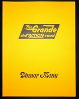 1976 Denver & Rio Grande Western Railroad Beverage Dining Car Dinner Menu