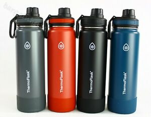 Thermoflask Wide Mouth Leak Proof Spout Lid Stainless Steel Water Bottles 24 OZ
