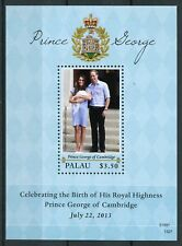 Palau 2013 MNH Prince George Royal Baby William & Kate 1v S/S Royalty Stamps