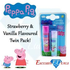 Peppa Pig Lovely Lip Balms Strawberry & Vanilla Moisturising 2 Pack Childrens