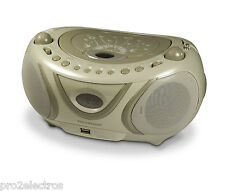 Radio CD MP3 USB portable stereo FM AM Boombox METRONIC 477114 Soft Grey