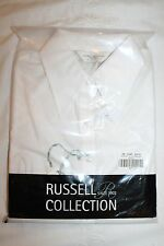 Russell Ladies white small 3/4 sleeve Tencel fitted shirt