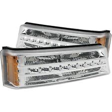 Anzo Parking/signal Lights Chrome G2 Amber For 03-06 Chevy Silverado/Avalanche