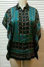 MICHAEL Michael Kors Scarf-Print Kimono Shirt Small*