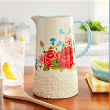The Pioneer Woman Sweet Rose Pitcher, 2.1 Quart, New