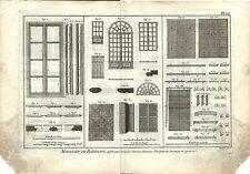 Stampa antica LAVORAZIONE LEGNO Pl12 Enciclopedia Diderot 1790 Old antique print