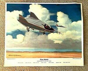 "Charles H Hubbell ""FLYING BATHTUB"" Northrup-NASA M-2 Lifting Body Art Print"