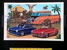 "Volkswagen ART Double Cab Pickup VW Karmann Ghia Fastback Poster Print 11""x17"""