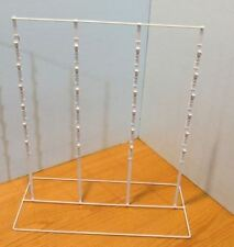 Counter Chip & Snack Display Rack - 4 Strip 52 Clip (White)