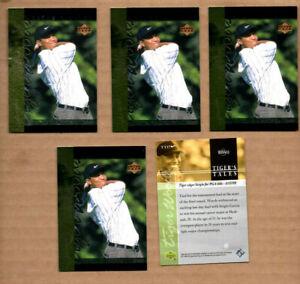 5 card Lot of 2001 Upper Deck Tiger's Tales #TT17 Tiger Woods