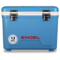 Engel 13 Quart Compact Durable Ultimate Leak Proof Outdoor Dry Box Cooler, Blue