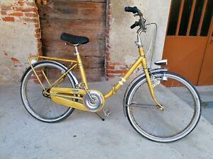 bici bicicletta vintage pieghevole tipo graziella ruota da 22 pollici