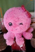 Aurora Pink Octopus Plush Stuffed Animal Winking Smiling